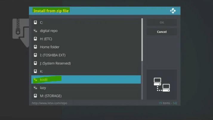 Kodi Repository Installing process