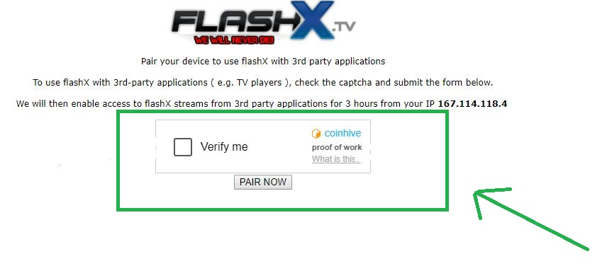 Pair Now Flashx.tv/pairing.php
