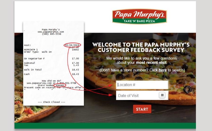 papasurvey.com survey online